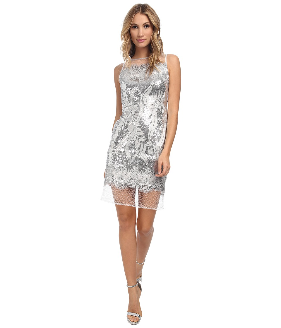Christin Michaels - Sleeveless Sequin Dress (Silver) Women