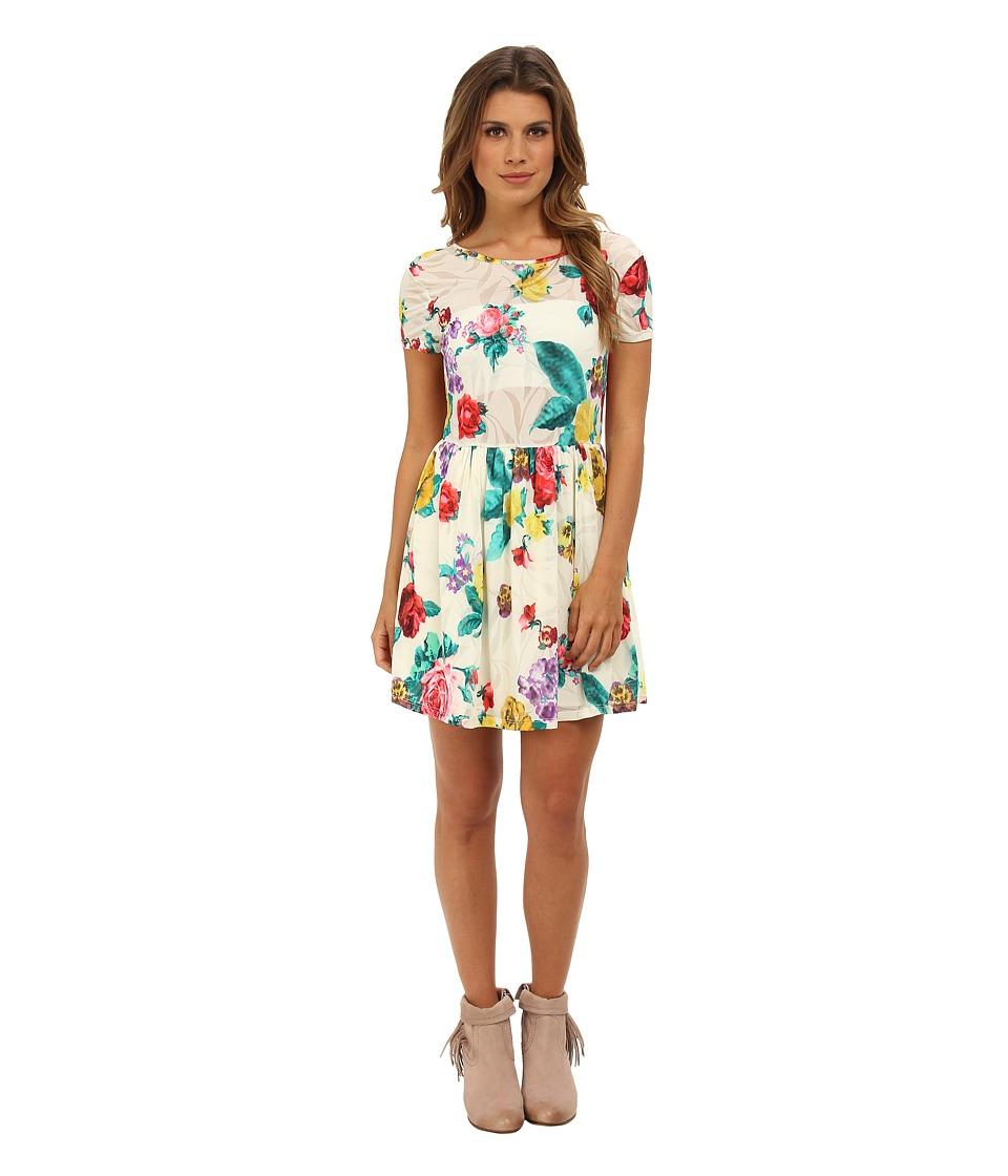 Gabriella Rocha Floral Print Dress Womens Dress (White)
