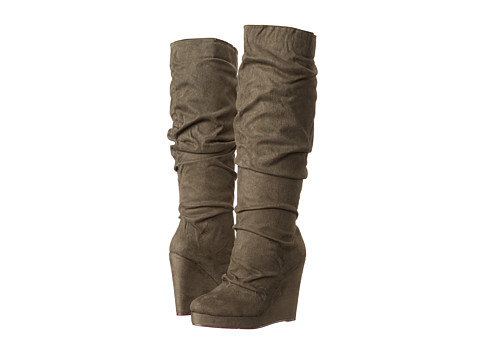 Michael Antonio - Eastin-Sue (Olive Micro) Women's Pull-on Boots