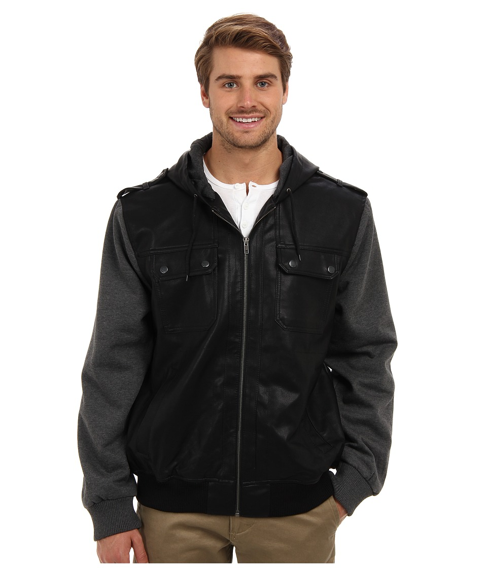 Mavi Jeans - Hooded Coat (Black) Men's Coat