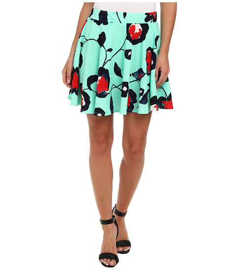 Gabriella Rocha - Floral Skater Skirt (Mint) Women's Skirt