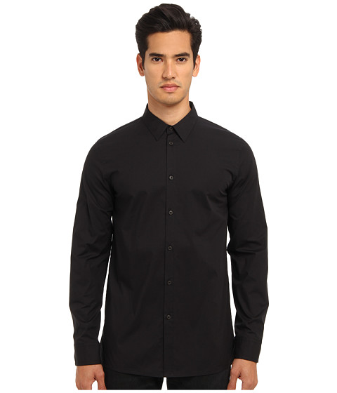 HELMUT LANG - Lightweight Stretch Poplin Minimalist Shirt (Black) Men