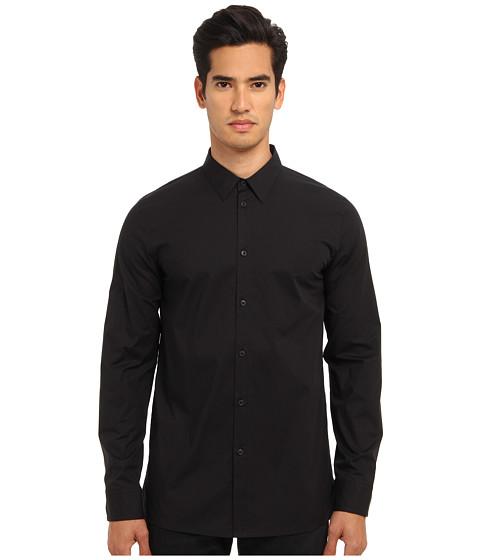 HELMUT LANG - Lightweight Stretch Poplin Minimalist Shirt (Black) Men's Clothing
