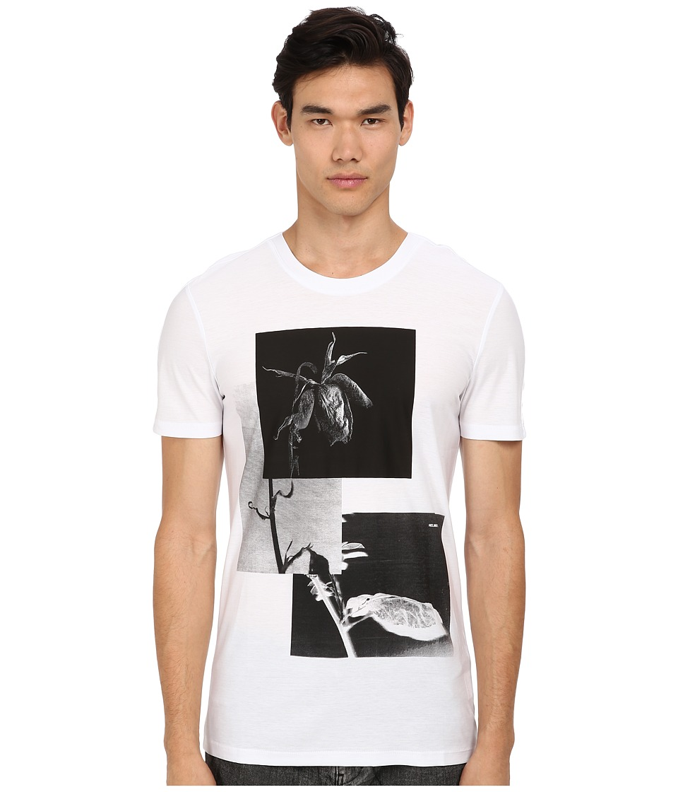 HELMUT LANG - Withered Rose Jersey Tee (White) Men