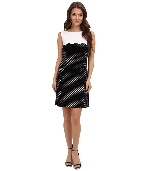 Tahari by ASL Petite - Petite Alvini-P Dress (Black/White) Women