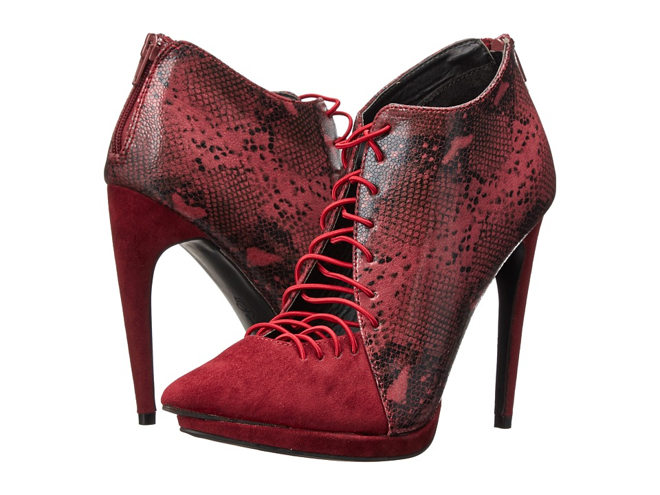 Penny Loves Kenny - Kellie II (Wine Suede/Printed Snake) High Heels