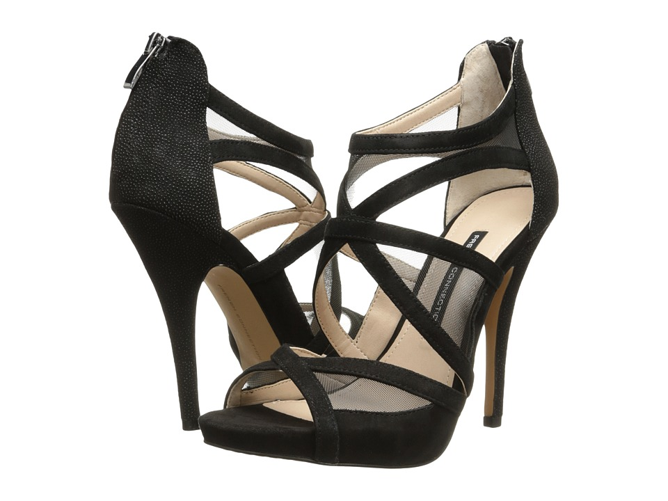 French Connection - Delano (Black/Black/Black) High Heels