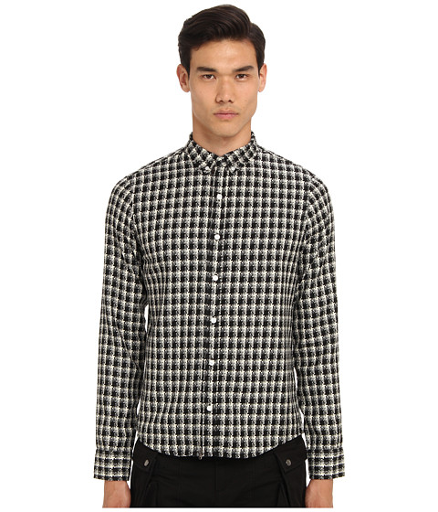 PRIVATE STOCK - The Jigsaw Shirt (White/Black) Men