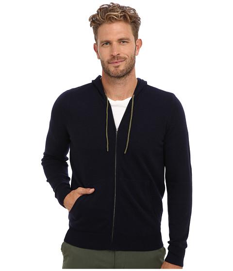 Culture Phit - 100% Cashmere Brodie Zip Hoodie (Navy Combo) Men's Sweatshirt