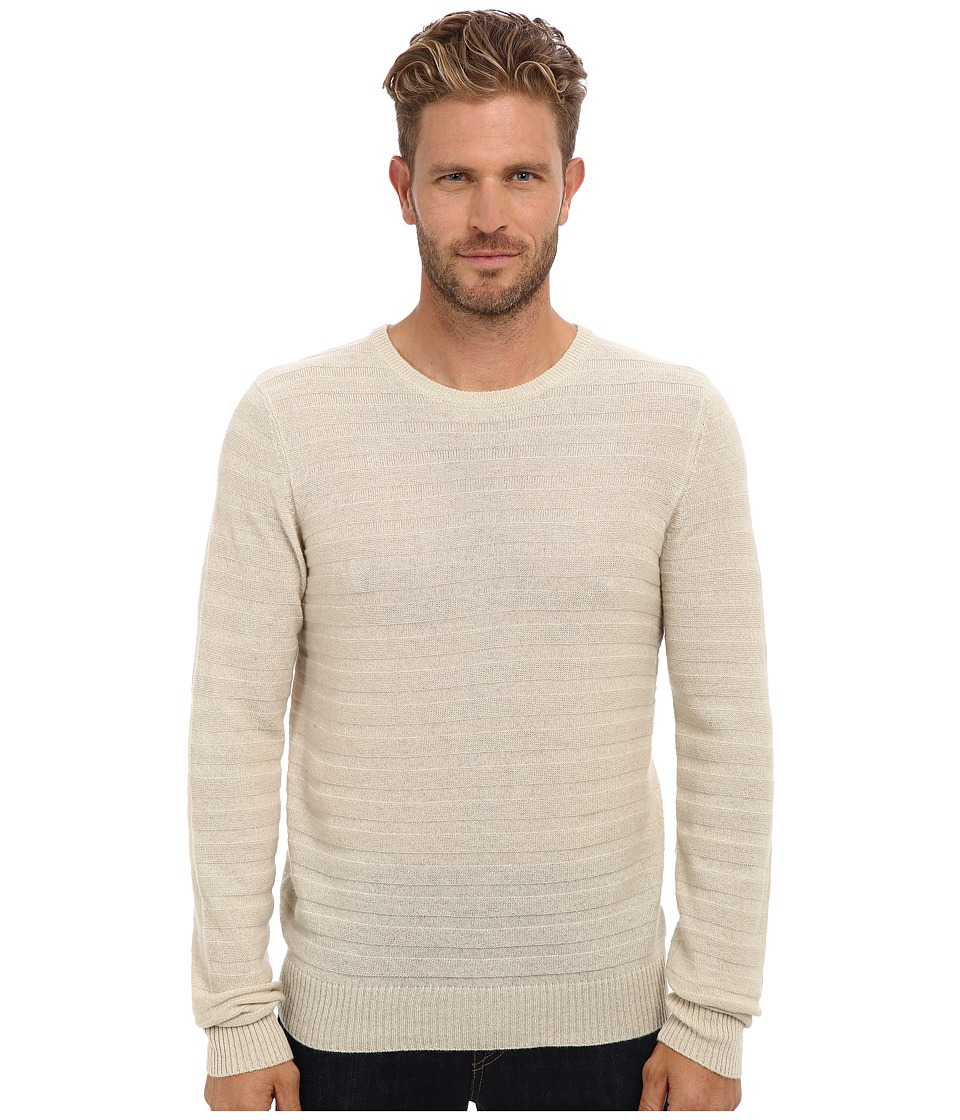 Culture Phit - 100% Merino Textured Crew Pullover (Oat) Men's Long Sleeve Pullover