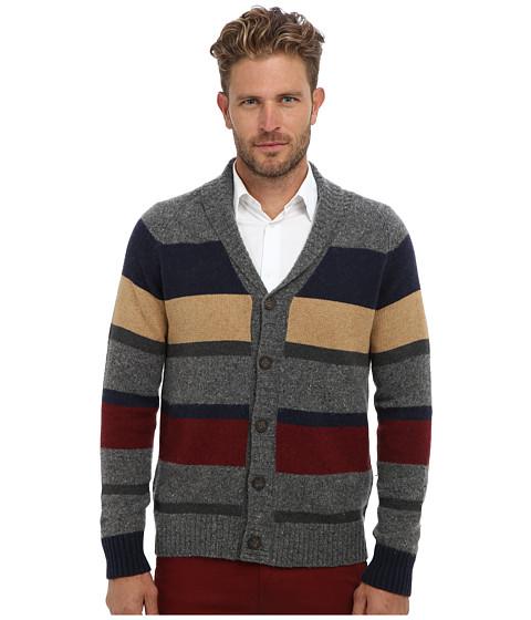 Culture Phit - Remi Shawl Stripe Cardigan (Quarry Combo) Men