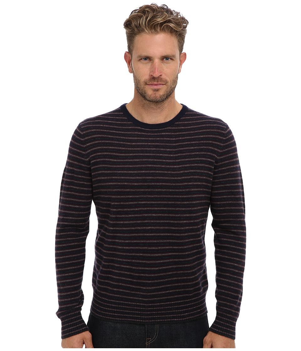 Culture Phit - Adam Stripe Crew Sweater (Navy Combo) Men