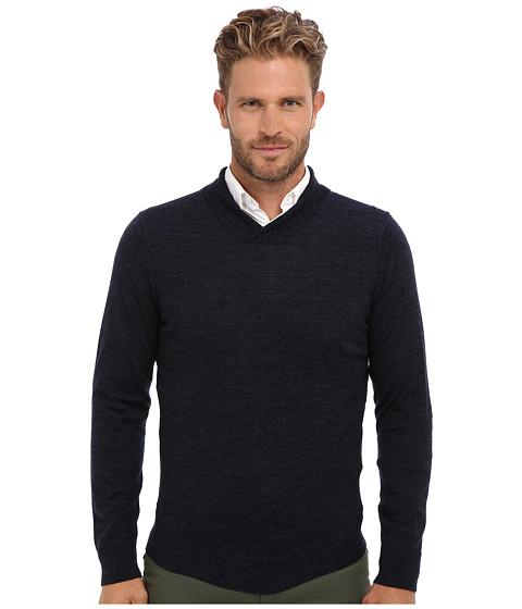 Culture Phit - 100% Merino High Shawl Crew Sweater (Night Marl) Men's Sweater