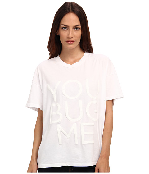 Vera Wang - You Bug Me T-Shirt (White) Women's Short Sleeve Pullover