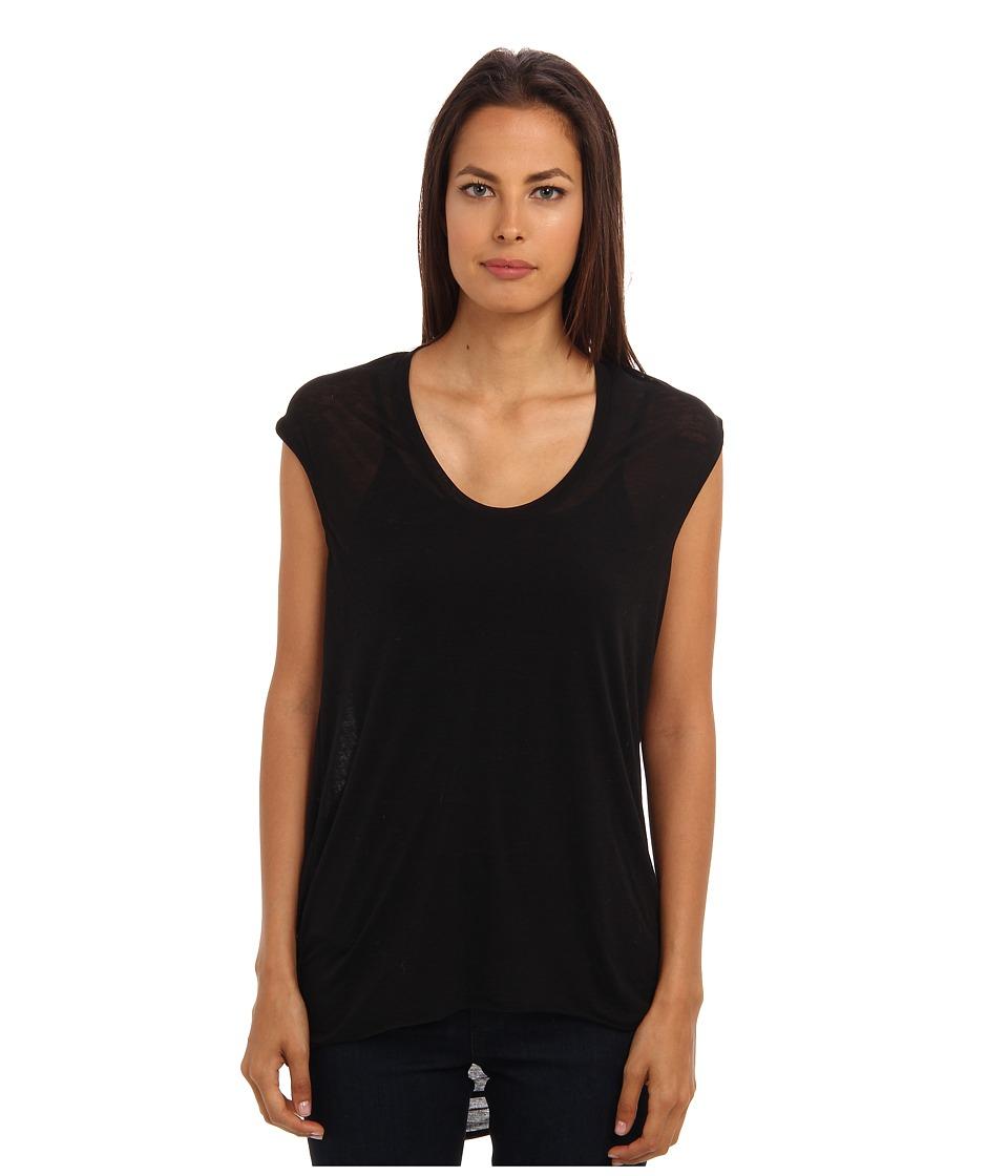 HELMUT LANG - Back Cowl Top (Black) Women's Clothing