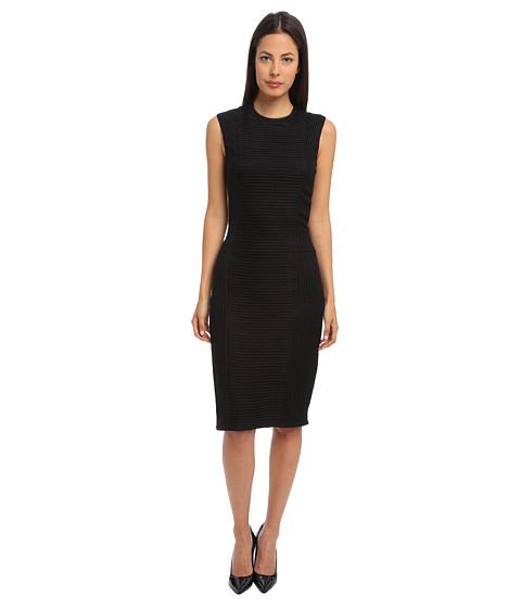HELMUT LANG - Framing Detail Dress (Black) Women's Dress