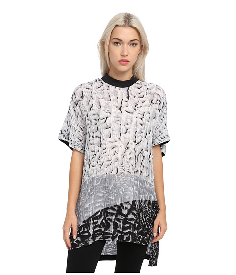 HELMUT LANG - Annex Print Top (Black/White Multi) Women's Short Sleeve Pullover