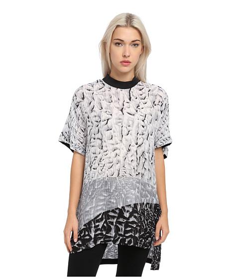 HELMUT LANG - Annex Print Top (Black/White Multi) Women's Short Sleeve Pullover