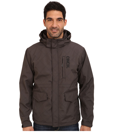 Cinch - 3/4 Length Bonded Jacket (Grey) Men's Coat