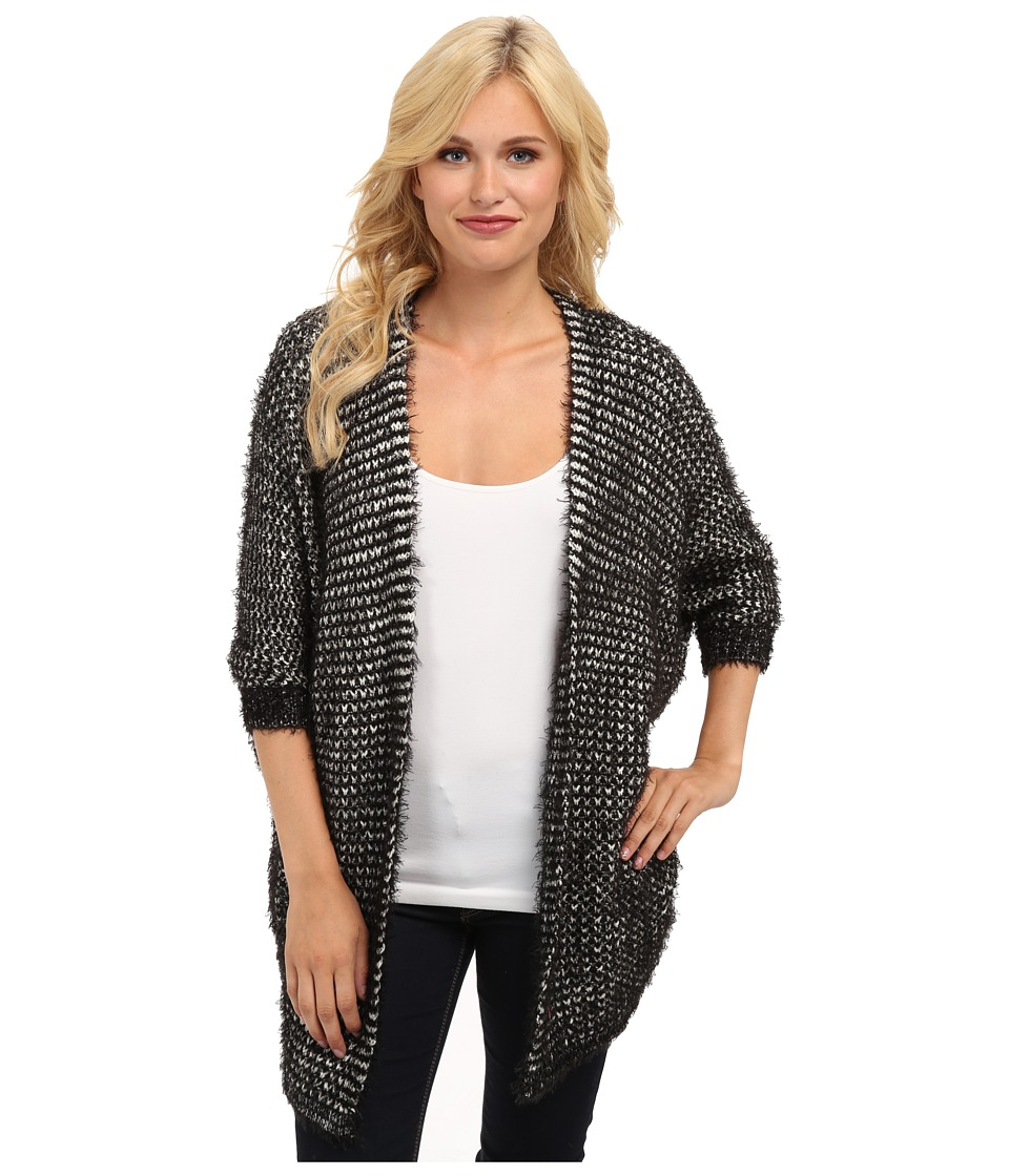 Brigitte Bailey - Jessica Fuzzy Cardigan (Black) Women's Sweater