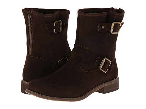 Fitzwell - Lago Biker (Dark Brown Leather) Women's Zip Boots