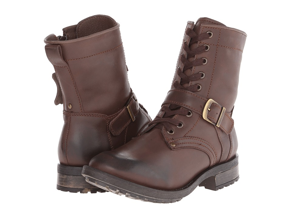 Fitzwell - Monaco Combat (Dark Brown Leather) Women