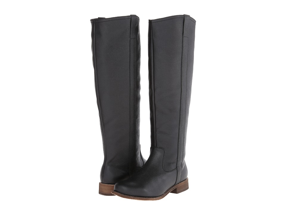 Fitzwell - Lago Tall Wide Calf (Black Leather) Women's Boots