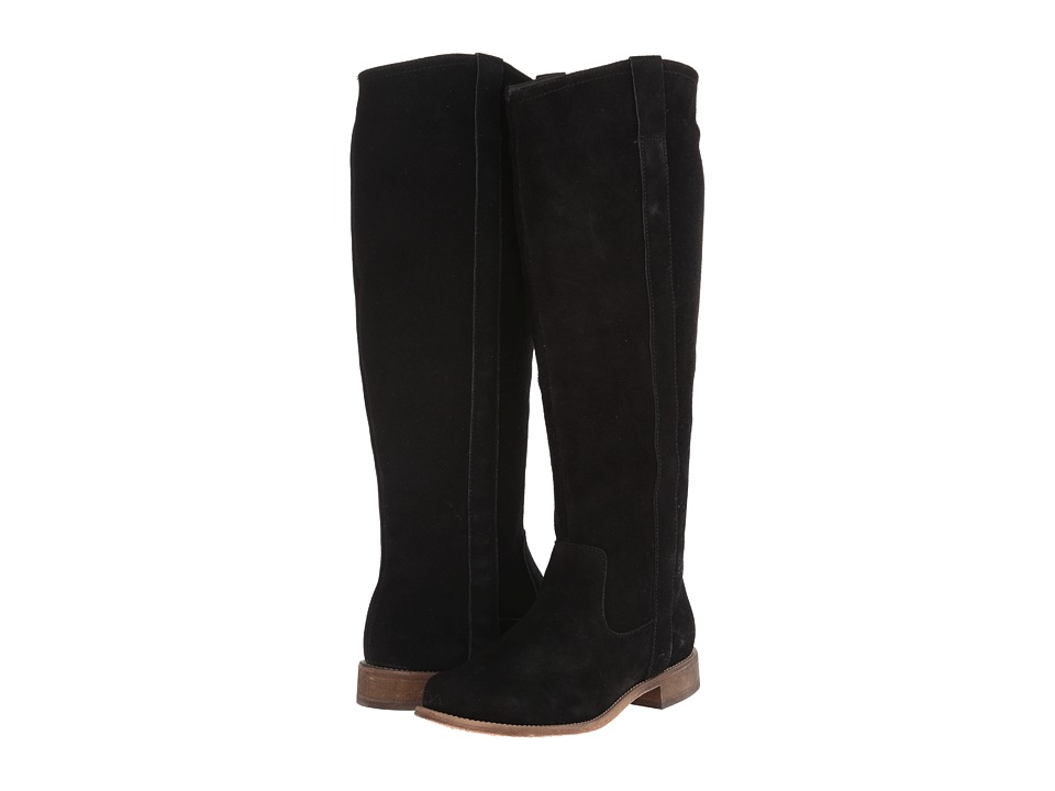 Fitzwell - Lago Tall Wide Calf (Black Suede) Women's Boots