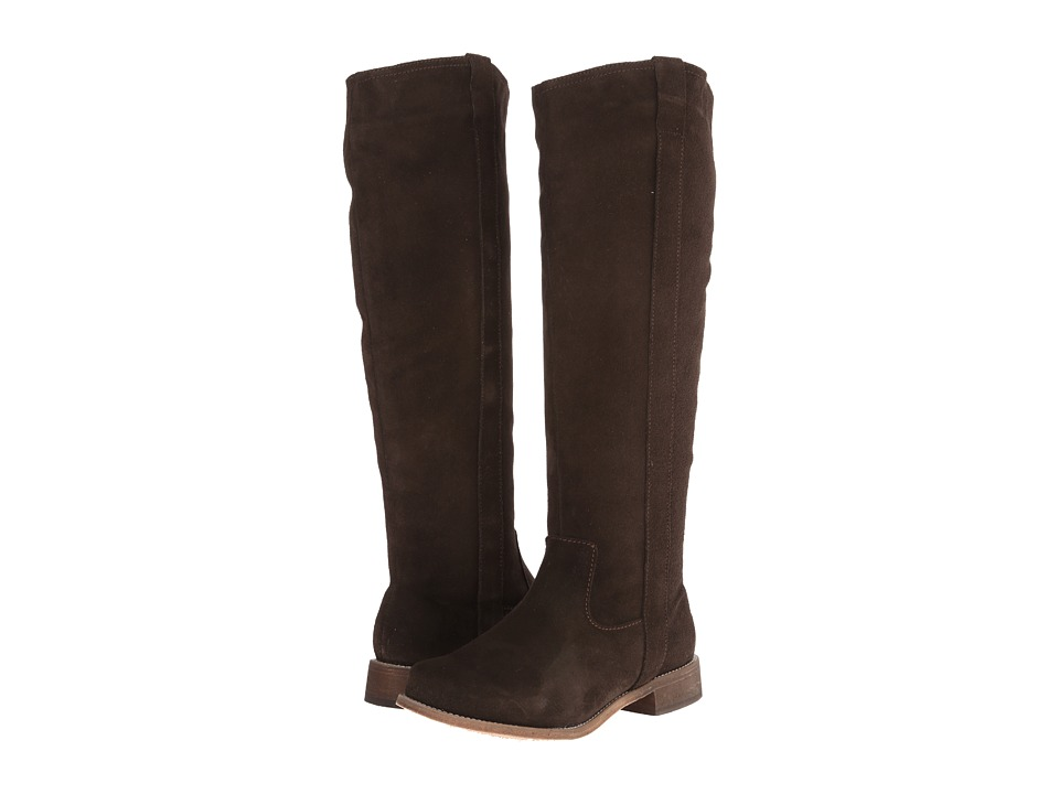 Fitzwell - Lago Tall Wide Calf (Dark Brown Suede) Women's Boots