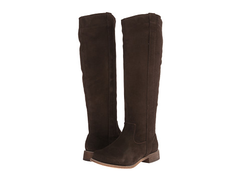 Fitzwell - Lago Tall Wide Calf (Dark Brown Suede) Women