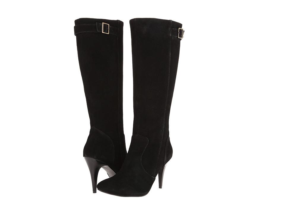 Fitzwell - Donna Wide Calf (Black Suede) Women's Zip Boots