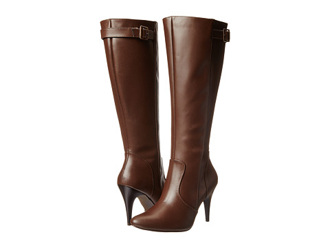 Fitzwell - Donna Wide Calf (Medium Brown Leather) Women's Zip Boots