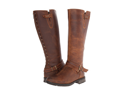 Fitzwell - Menier Buckle Wide Calf (Cognac Leather) Women's Zip Boots