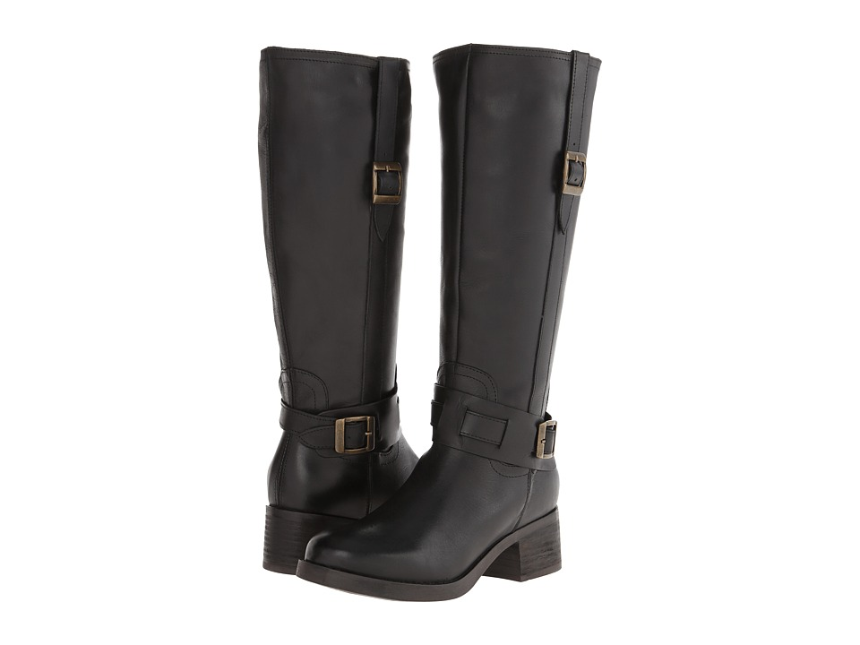 Fitzwell - Columba Hi Wide Calf (Black Leather) Women's Boots