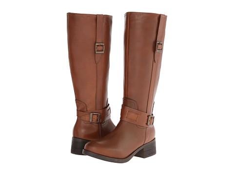 Fitzwell - Columba Hi Wide Calf (Cognac Leather) Women