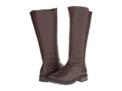 Fitzwell - Menier Wide Calf (Dark Brown Leather) Women's Zip Boots
