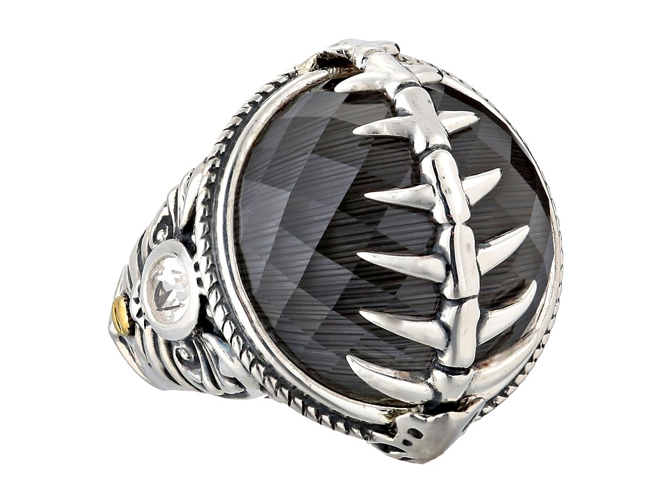 Stephen Webster - Jewels Verne Fish Skeleton Ring (Grey Cat's Eye & Clear Quartz Crystal Haze) Ring