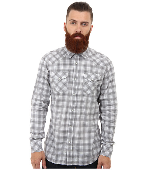 Diesel - S-Niral Shirt (White) Men's Long Sleeve Button Up