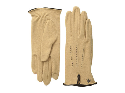 LAUREN by Ralph Lauren - Contrast Points Touch Glove (Camel/Brown) Dress Gloves