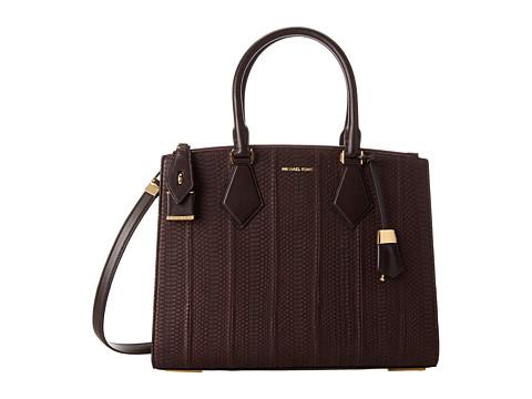 Michael Kors Collection Casey Large Satchel (Bordeaux) Satchel Handbags