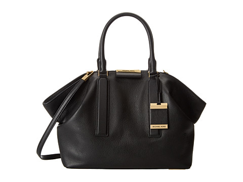 Michael Kors - Lexi Large EW Satchel (Black) Satchel Handbags