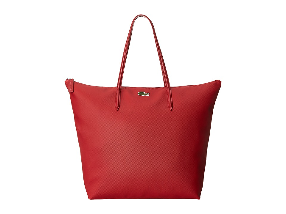 Lacoste - L1212 Concept Travel Shopping Bag (Paprika Red) Tote Handbags