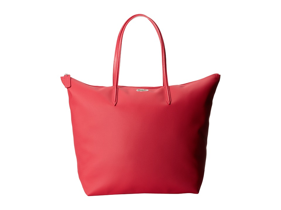 Lacoste - L1212 Concept Travel Shopping Bag (Petunia Pink) Tote Handbags