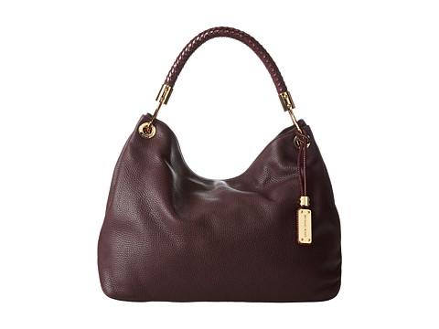 Michael Kors Collection Skorpios Large Shoulder Bag (Bordeaux) Hobo Handbags