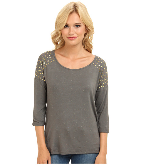 Mavi Jeans - Beaded Top (Safari Green) Women's Long Sleeve Pullover