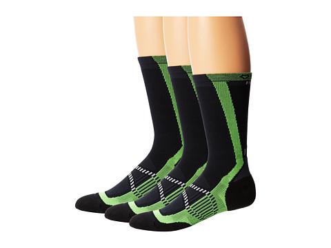 Fox River - Velox LX (3-Pair Pack) (Neon Green) Men's Crew Cut Socks Shoes