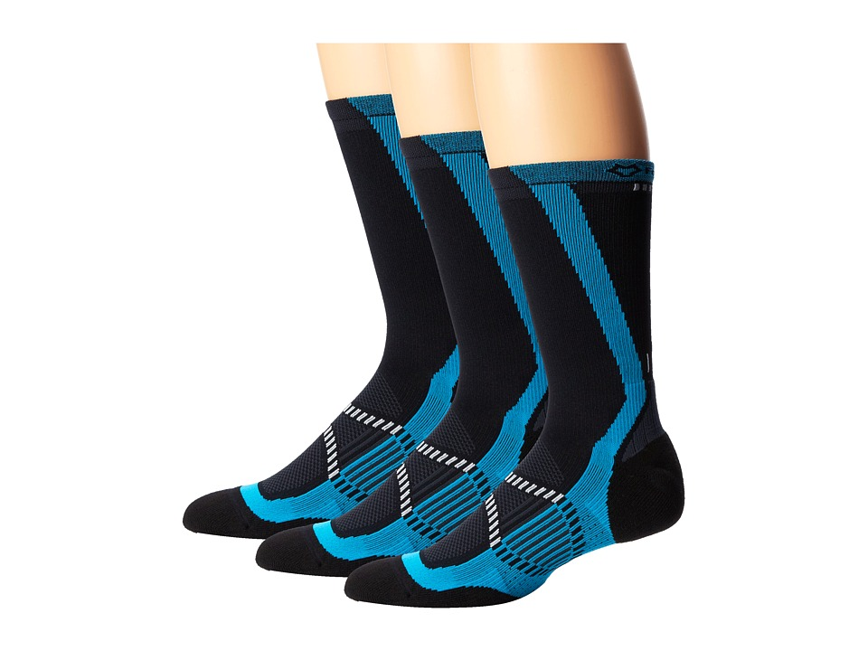 Fox River - Velox LX (3-Pair Pack) (Cyan) Men's Crew Cut Socks Shoes