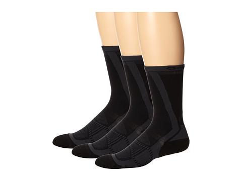 Fox River - Velox LX (3-Pair Pack) (Black) Men's Crew Cut Socks Shoes