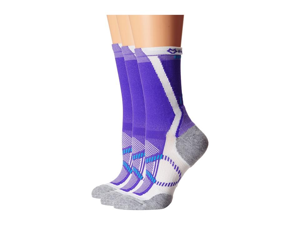 Fox River - Vite LX (3-Pair Pack) (Purple) Women's Crew Cut Socks Shoes