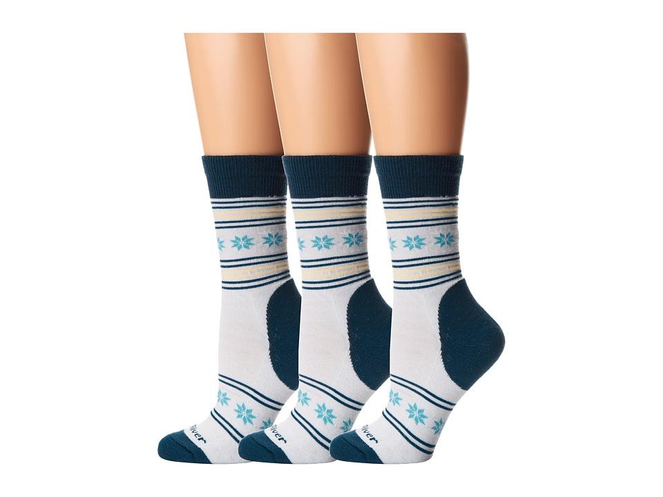 Fox River - Nansen (3-Pair Pack) (White) Women's Crew Cut Socks Shoes